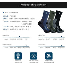 Load image into Gallery viewer, YUEDGE Men's Cotton Cushion Outdoor Crew Socks