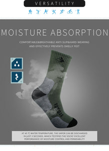 YUEDGE Men's Cotton Cushion Outdoor Crew Socks