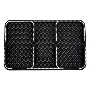 Dashboard Non-Slip Mat with Rhinestone Crystal Accent