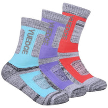 Load image into Gallery viewer, YUEDGE Women's Colored Gray Cotton Cushion Outdoor Crew Socks