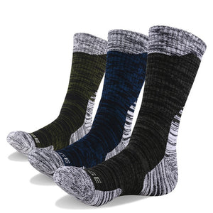 YUEDGE 3 or 5 Pairs Men's Cotton Cushion Outdoor Crew Socks