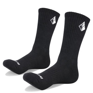 YUEDGE Six Pairs Men's Cotton Cushion Crew Socks