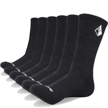 Load image into Gallery viewer, YUEDGE Six Pairs Men's Cotton Cushion Crew Socks
