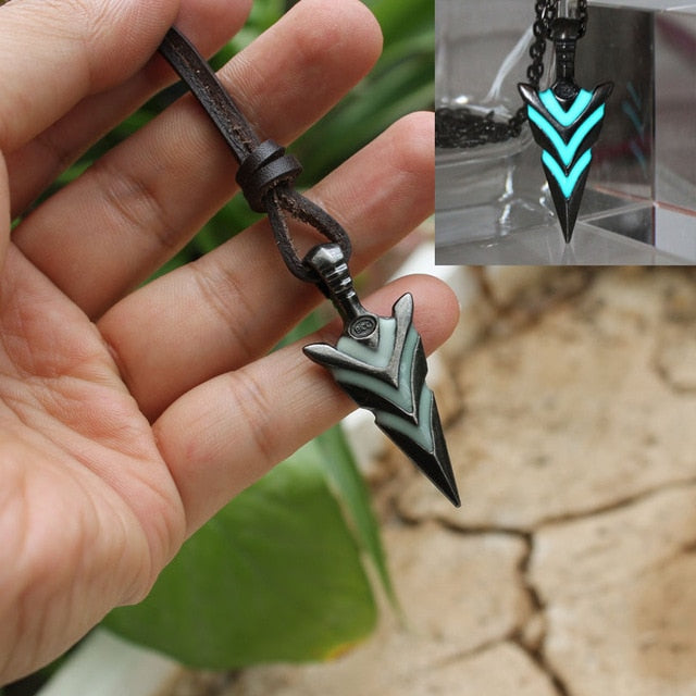 Glow In The Dark Arrowhead Necklace