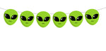 Alien Garland, Alien Banner, Alien Party Supplies, Alien Head Party Decorations, Alien Birthday, Alien Party, Alien Decoration, Photo Prop