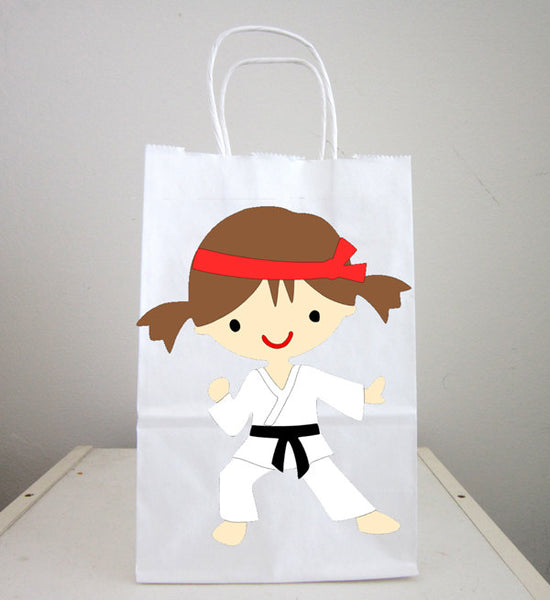 Karate Goody Bags, Karate Girl Goody Bags, Karate Girl Favor Bags, Karate Girl Party Bags, Karate Goodie Bags (1718516P)