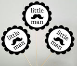 Little Man Centerpieces, Lil Man Centerpieces, First Birthday, 1st Birthday Centerpieces