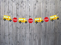 School Bus Garland, School Bus Banner, School Bus Birthday, School Bus Decorations, Back To School, Teacher Banner, Teacher Decoration