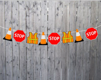 Construction Cupcake Toppers, Construction Party Cupcake Toppers, Construction Sign Cupcake Toppers (33017301P)