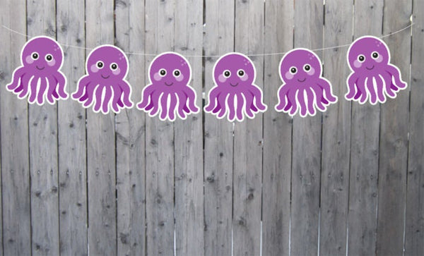 Octopus Banner, Octopus Garland, Octopus Birthday, Octopus Decorations, Under The Sea