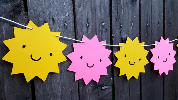 Sun Banner, Sun Garland, Sunshine Banner, Sunshine Garland, Weather Banner, You Are My Sunshine Birthday