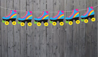 Roller Skate Garland, Roller Skate Banner, Roller Skate Party Banner, Roller Skate Decorations, Roller Skate Party Sign