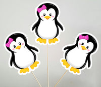 Penguin Girl Centerpiece, Penguin Centerpiece