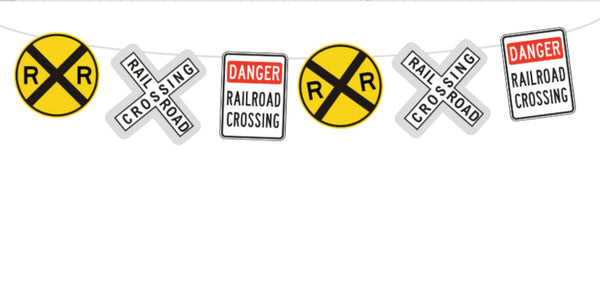 Railroad Garland, Railroad Sign Banner, Train Banner, Train Garland, Train Birthday Banner, Train Party Banner