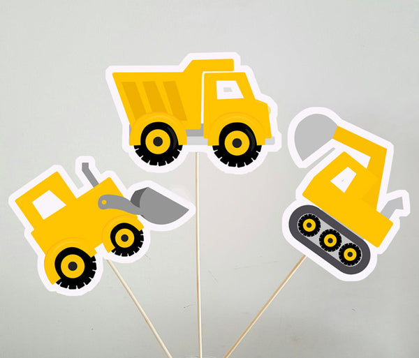 Construction Party Centerpieces, Construction Birthday Centerpieces, Dump Truck Centerpieces, Digger Centerpieces
