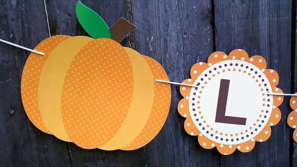 Little Pumpkin Banner, Little Pumpkin Baby Shower, Little Pumpkin Birthday, Pumpkin Banner, Pumpkin Birthday Party