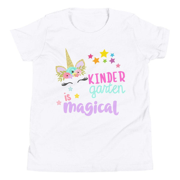 Kindergarten is Magical Shirt, Unicorn Shirt, Kindergarten Shirt, Youth Short Sleeve T-Shirt