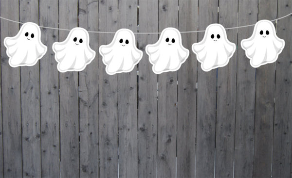 Ghost Garland, Halloween Garland, Halloween Banner, Halloween Decorations, Ghost Banner