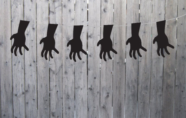 Halloween Hand Garland, Halloween Hand Banner, Halloween Decorations, Halloween Party Supplies