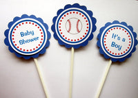 Baseball Baby Shower Cupcake Toppers (226171008P)