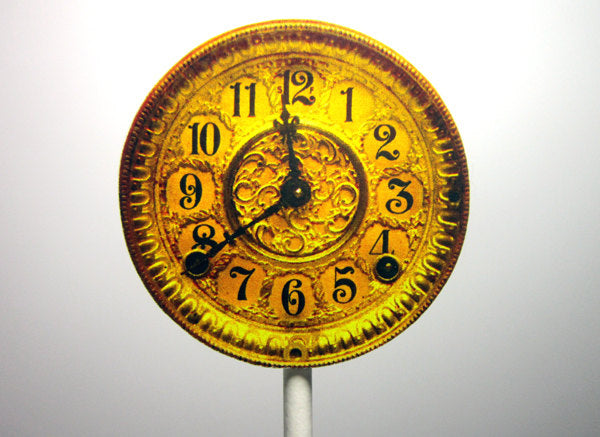 Clock Cupcake Toppers - Antique Clock Cupcake Toppers - New Years Eve Clock Cupcake Toppers