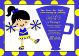 Cheerleader Birthday Invitation - Cheerleading Birthday Invitation