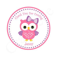 Owl Cupcake Toppers - Pink and Purple Owl Cupcake Toppers
