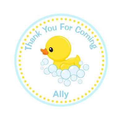 Rubber Duck Baby Shower Favor Tags - Rubber Duck Birthday Favor Tags