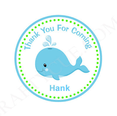 Whale Favor Tags, Whale Favors, Whale Baby Shower, Whale Birthday, Whale Party, Whale Decorations, Under the Sea Favor Tags