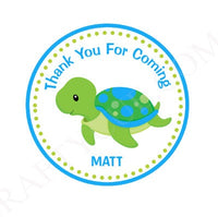 Turtle Cupcake Toppers - Turtle Birthday - Turtle Baby Shower - Under The Sea Cupcake Toppers - Blue and Green Turtle (528171019A)