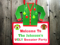 Ugly Sweater Party Banner, Ugly Sweater Party Garland - Ugly Sweater Party, Ugly Sweater Party Decorations