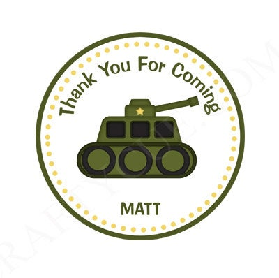 Army Goody Bag Tags, Army Favor Tags, Army Gift Bag Tags