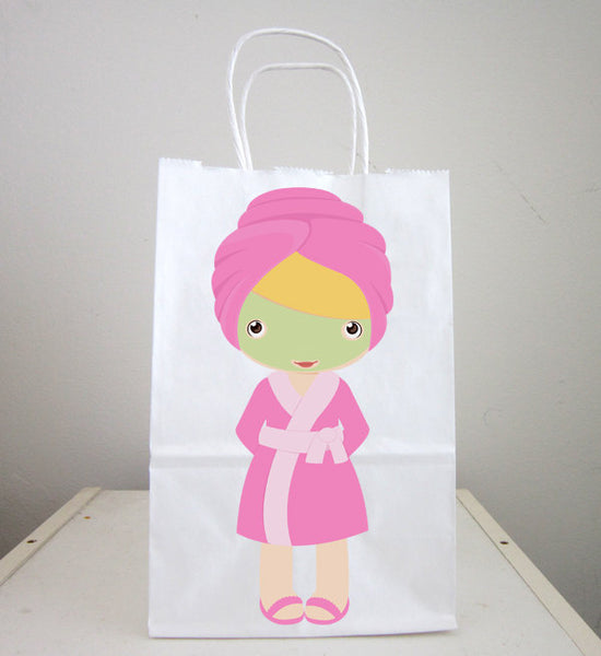 Spa Goody Bags, Spa Favor Bags, Spa Party Bags, Spa Birthday - 1301818245A