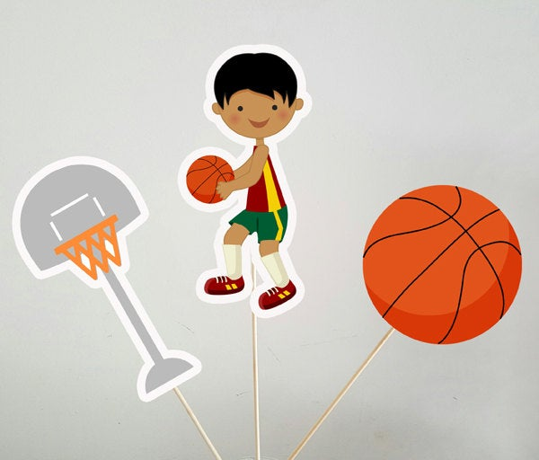 Basketball Centerpieces, Basketball Birthday, Basketball Decorations