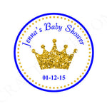 Prince Favor Tags - Prince Baby Shower Favor Tags - Prince Goody Bag Tags - Prince Gift Bag Tags - Prince Baby Shower - Blue and Gold