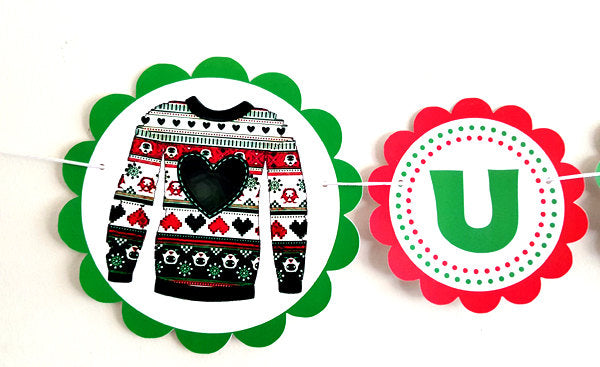 Ugly Sweater Party Banner, Ugly Sweater Party, Ugly Sweater Party Decorations