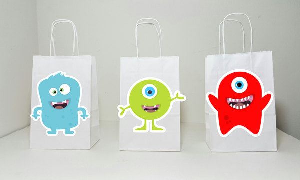 Monster Goody Bags, Monster Party Favor Bags, Monster Birthday Party Bags - Monster Mouth Goody Bags