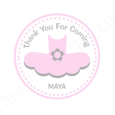 Ballet Favor Tags, Ballet Stickers