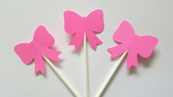 Hair Bow Cupcake Toppers