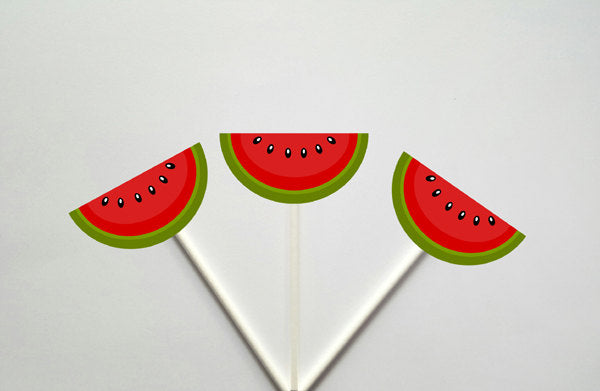 Watermelon Cupcake Toppers, Item#  72716709P