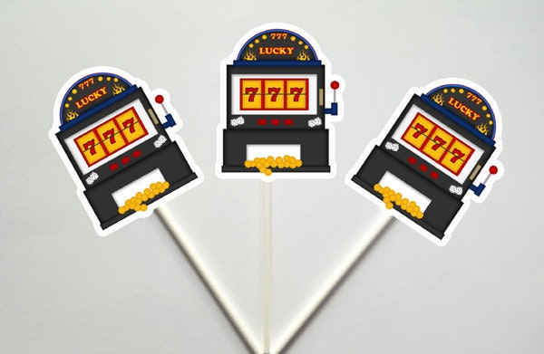 Slot Machine Cupcake Toppers