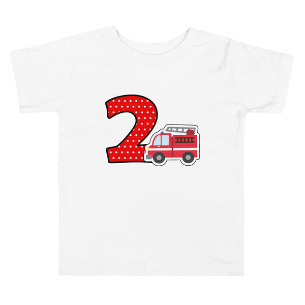 Firetruck Shirt, Firetruck 2nd Birthday Shirt, Firetruck Birthday Shirt, Firetruck Party Shirt, Firetruck Birthday Party