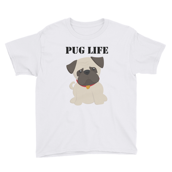PUG LIFE T-shirt - Youth Short Sleeve T-Shirt