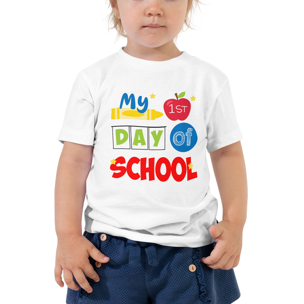 My First Day of School Shirt, Toddler Short Sleeve Tee