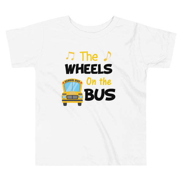 The Wheels On the Bus Shirt, School Shirt, Back to School Shirt, Toddler Short Sleeve Tee