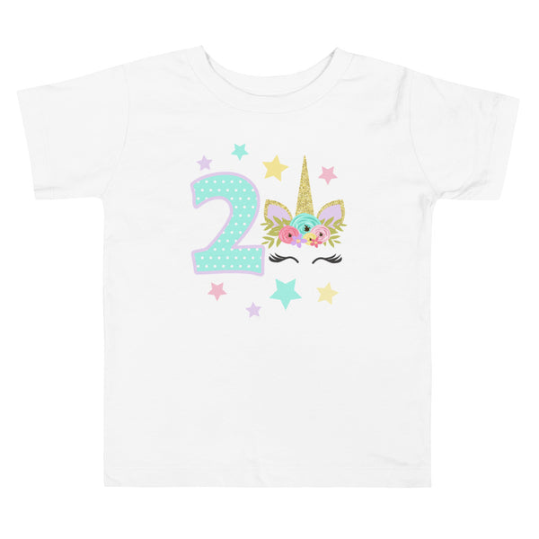 Unicorn Shirt, Unicorn Birthday Shirt, Unicorn 2nd Birthday Shirt, Unicorn Party Shirt, Unicorn Birthday Outfit