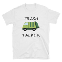 Adult Trash Talker Shirt, Garbage Truck t-shirt, UNISEX Adult Short-Sleeve Unisex T-Shirt