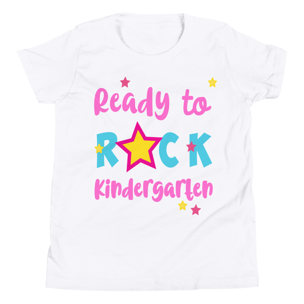 Ready To Rock Kindergarten, Kindergarten Shirt, Youth Short Sleeve T-Shirt