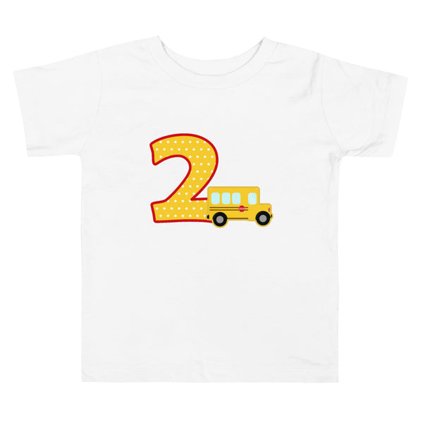 School Bus Shirt, School Bus Birthday Shirt, School Bus 2nd Birthday Shirt, School Bus Party Shirt