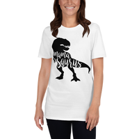 Mama Saurus T-shirt, Mom Dinosaur Shirt, Short-Sleeve Unisex T-Shirt